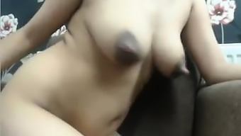 attractive stepsis along with great inflated nipples on cam