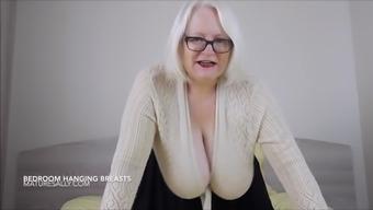 Large hanging titties