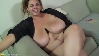 Blowjob typically from Big beautiful woman is a pleasure to regard