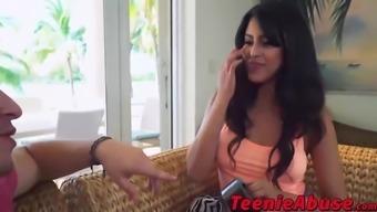 Best butt teen Sophia Leone rides a massive hispanic penis