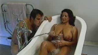 Uk Big tits MILF gets fucked inside the bath room
