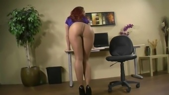 Hot booty in pantyhose