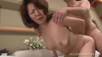 Rough sex with a attractive senior Far eastern