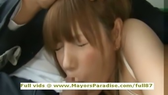 Rio innocuous Chinese people girl is fucked toward the bus