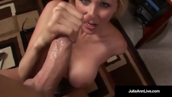 Place of work Milf Julia Ann Sucks Penis & Gets Sizzling Tacky Facial!