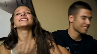 eigteen yrs old Cristina and Diego - youthful a few fuck for cash