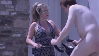 Classy English Girlfriend spanks and wanks her Domestic Person who serves