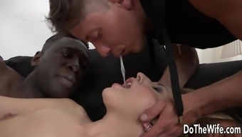 Attractive brown wifey butt fucked by BBC before husband