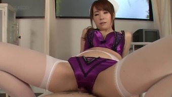 Attractive Oriental cater for in penal panties simply makes sure that soreness escape