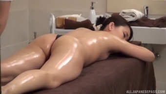 A most sexual way of massage session for your thin Japanese people demoiselle