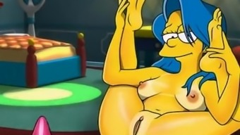 Simpsons adult material animated parody