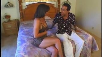 Latina brunette Wifey enjoys her pussy rimmed Intense after event