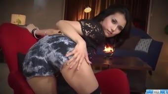 Horny threesome porno act along slim Maria Ozawa