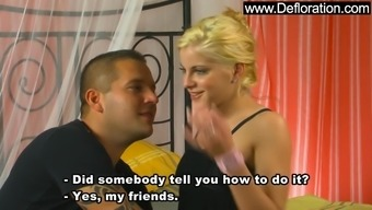 Lala Queen the hot blonde gf springs on the major joystick
