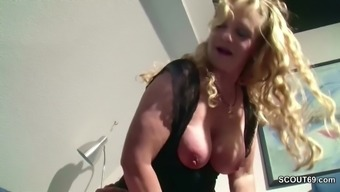 German Vast Tit MILF Please to effectively Fuck by Step-Son