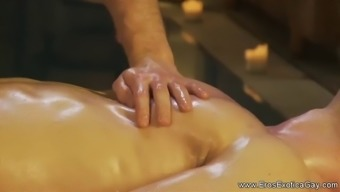 nice massage therapy for her enjoy