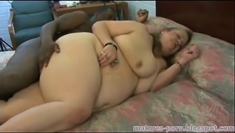 Plus-size woman granny anal passage