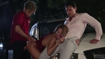 Jessica Drake cannot refuse a couple of massive dongs