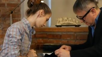 Schoolgirl fucks her Senior Tutor