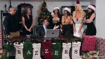 Monique Alexander and Ava Addams enjoy a merry orgy