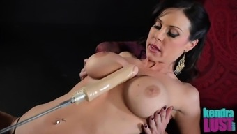 Kendra Desire bends over to produce a a handful of stiff sex belongings