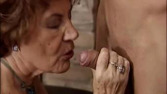 Granny attracting horny guy.