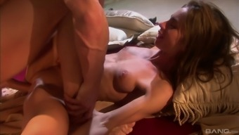 Anal action with horny Naomi Russell and a white stud