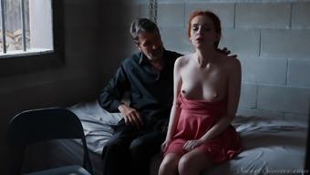 Prison action with hot redhead Maya Kendrick enjoying dick