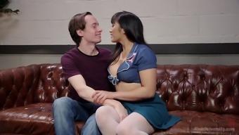 Asian seductress Mia Li is face sitting before a crazy blowjob scene