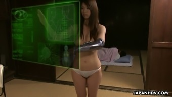 Tea ceremony with naughty Japanese hottie Ai Mizushima is turned into BJ
