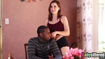 Young adult babysitter Kasey Warner pounded sincerely by dark colored undead
