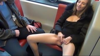 In german slut Masturbates Publicly