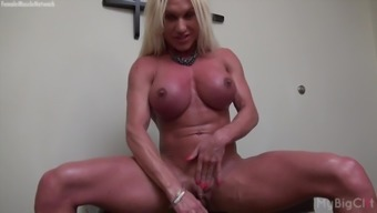 Exposed Girl Musclebuilder Ashlee Sections Major Clit