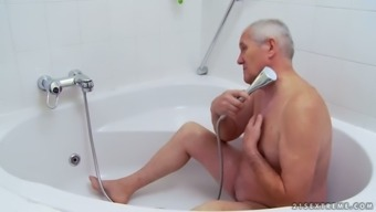 A SHOWER By using GRANDPA