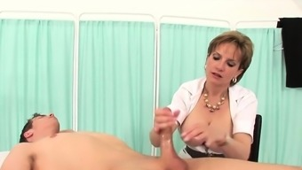 Cheating english milf woman sonia uncovers her nut knocker