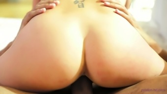 Stunning From asia Morgan Lee having her horny pussy pleasured