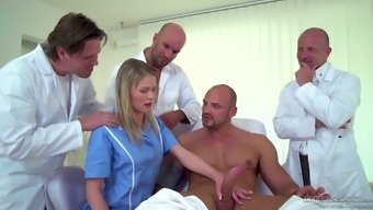 Czech nurse Claudia Macc is fucked by a variety of medical professionals and horny sufferer