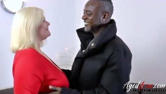 Attractive age woman appreciate interracial hard-core fuck and will try even anal passage happiness