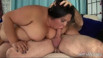 Large excess weight girl fucked and eats ejaculate