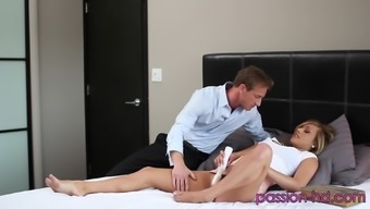 Bending over Kennedy Leigh over for a few wild pussy fucking
