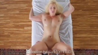 PASSION-HD Busty brown Kylie Page oiled massage therapy and fucked