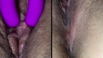 intense clit rubdown (wet, closeup) 2