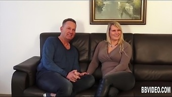 Busty german milf can take two cocks