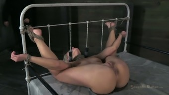 Sizzling light object Anikka Albrite is requested to really face fuck a solid cock