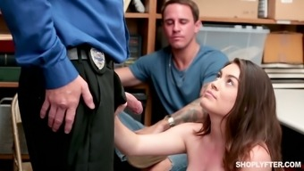 Attractive girl Veronica Vega gets her pussy penalized for the wrongdoing of selling the illicit drugs for shoplifting