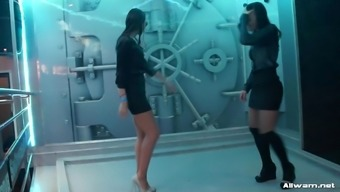 3 (three) babes dancing inside a shower at sexual intercourse community after many hours