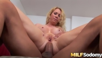 An Amazing Blowjob from MILF Nicki Blue Before Her Ass Gets Plowed