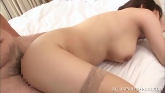 Rion Nishikawa Asian babe in hot mmf group fucking