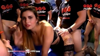 Mira Cuckold shared and creamed gangbang - German Goo Girls