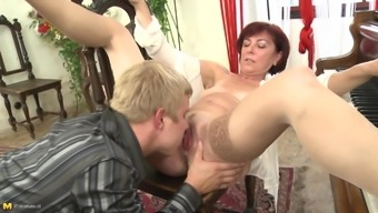 Mature piano teacher seduces her good looking student